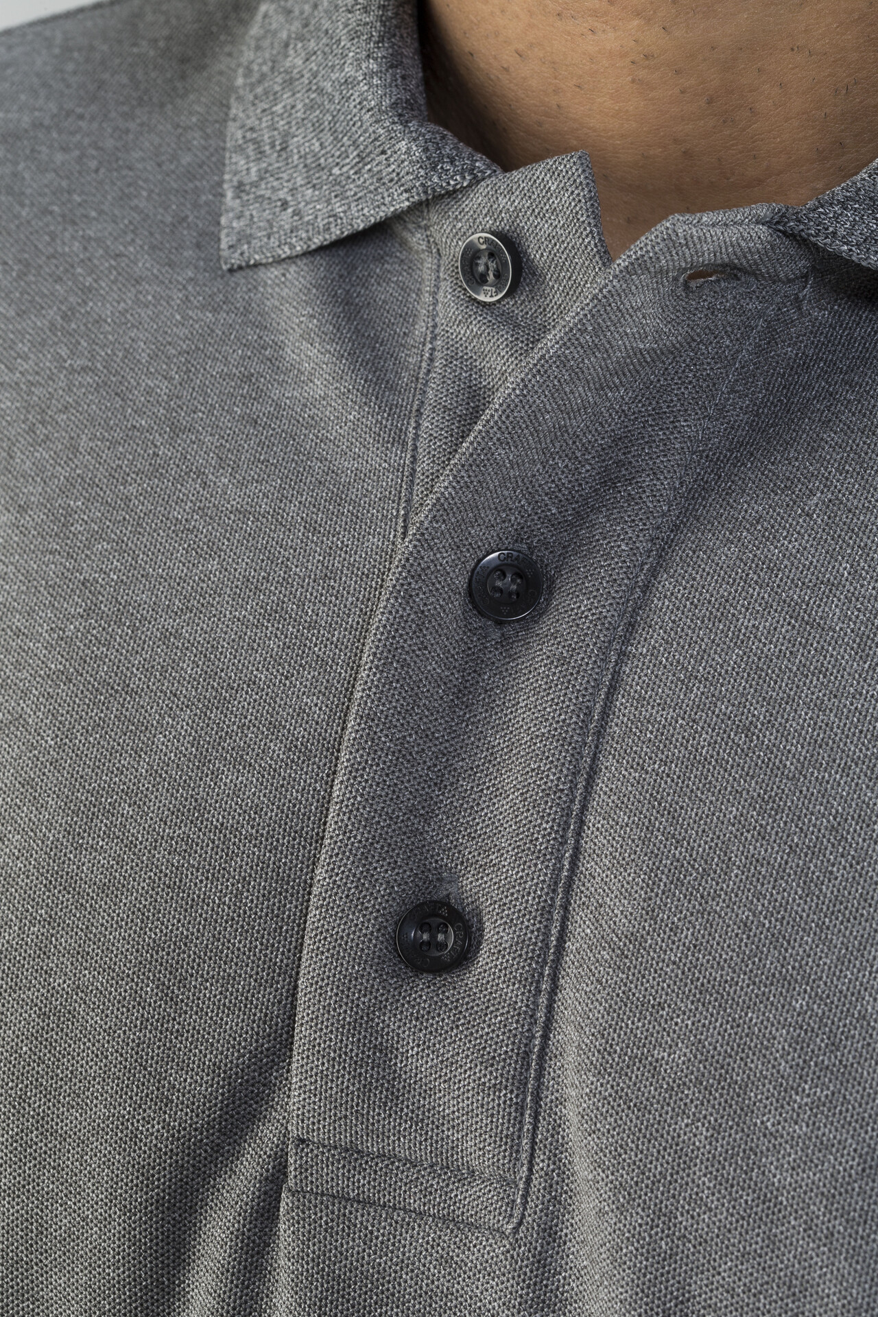 clásica Camisa Man polo T picas Craft en manga corta y gris de con 0p8wokn OPZiukXT